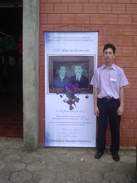 Marcelo Dametto, filho de Irio Dametto.