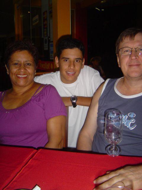 Maria Aquino, William e Francisco Dametto.