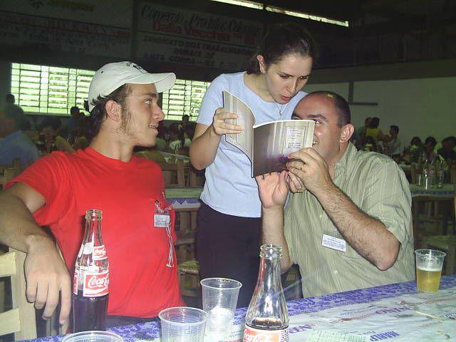 Marlon Meneghetti, Lígia Meneghetti e Geandro Chiarelli.