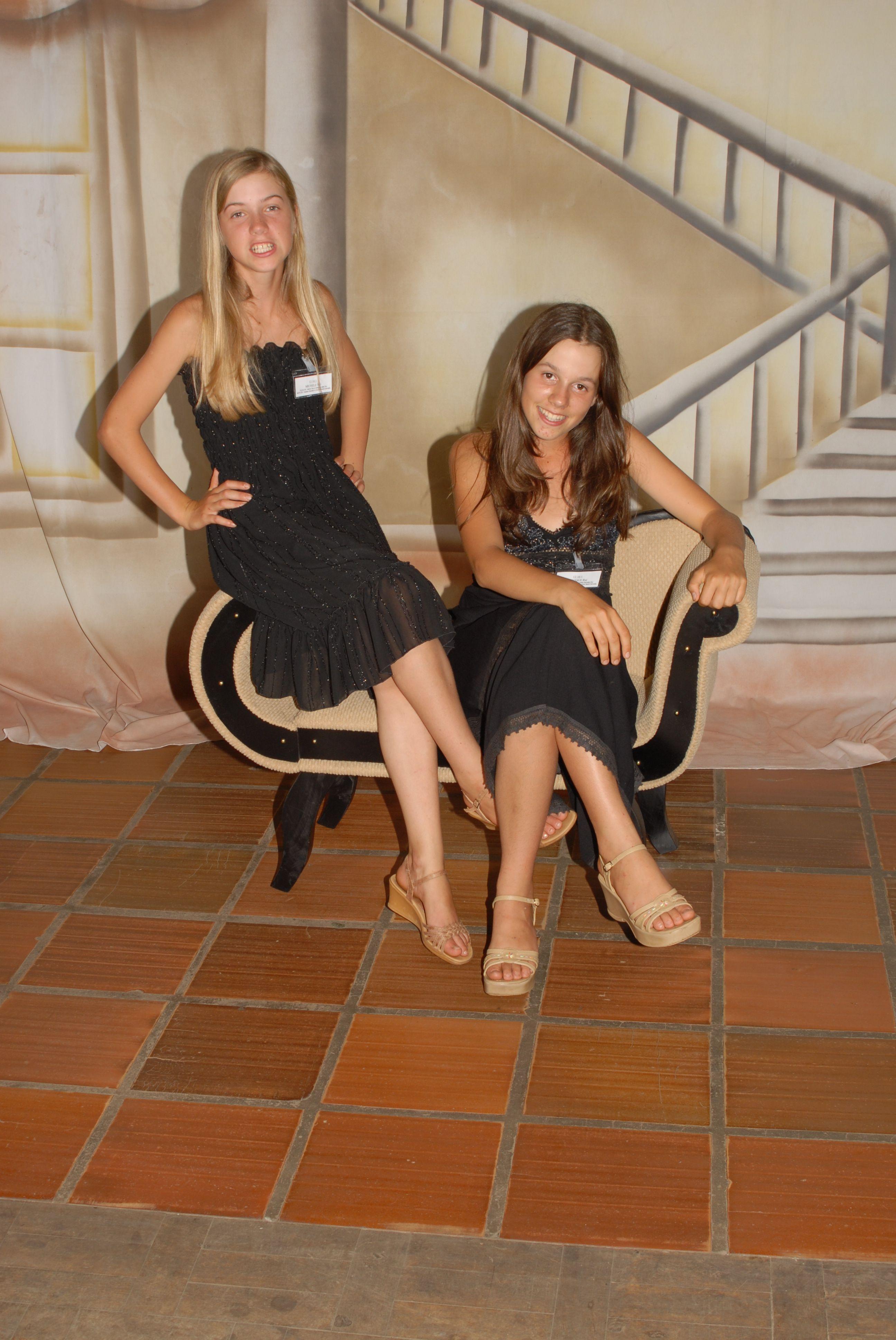 Monique e Michelle Rui, netas de Oreste Dametto.