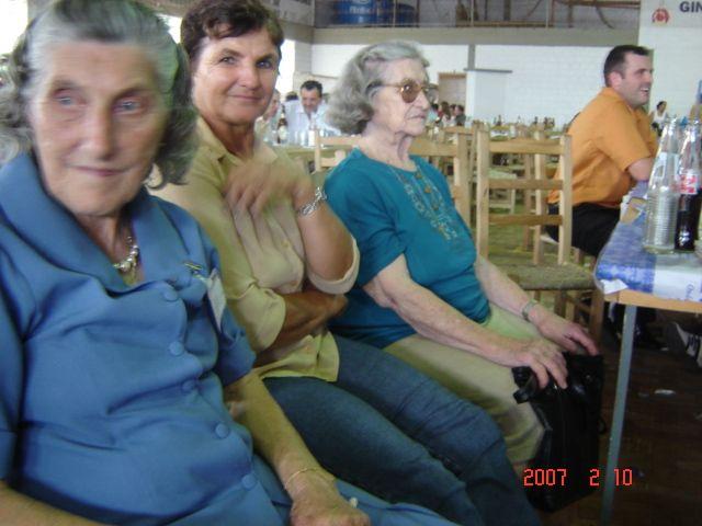 Tia Maria Slaviero, Lurdes Bocchi e Carmelinda Parisotto Dametto.