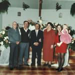 5 gerações: Catharin Dametto Steffani (filho de Magdalena Dametto), Raimundo e Domingos Dametto Steffani (netos de Magdalena Dametto), Lourdes Chies Steffani, Sandra e Renata.