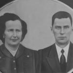 Angelina Dametto e Domingos Stello. Casaram-se, em Anta Gorda - RS, no dia 04/10/1946.