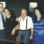 Adelino Dametto e Cristina Riedi, Renzo Negri e Maria Santina Bertotto Dametto.