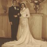 Adelino Dametto (*21/02/1926) e Maria Santina Bertotto (*13/05/1932), casamento no dia 17/10/1953.