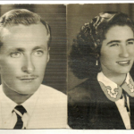 Maria Santina Bertotto e Adelino Dametto, Porto Alegre, c. 1953, ano do casamento.