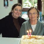 Clara Inês e Amélia Teló Dametto - 85 anos em 01/05/2012.