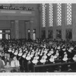 Igreja São Pelegrino no dia 11 de fevereiro de 1966: entrada no Noviciado de Irmã Amélia Dametto.