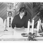 Irmã Amélia Dametto. Profissão Perpétua, dia 4 de março de 1973, na Igreja São Cristóvão, Passo Fundo – RS.