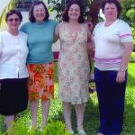 Amélia, Elzira, Nair e Justina Inês Dametto. Medianeira - Pr.