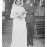 Maria Anália Gasparini e José Dametto, casamento no dia 04/09/1957.