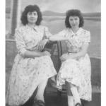 Ana Maria Andreolli e Catarina Dametto, catequistas da Capela Santo Antônio, Linha Quarta, Anta Gorda - RS, c. 1960.