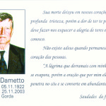 Antonio Dametto (*05/11/1922 † 25/11/2003), in memoriam.