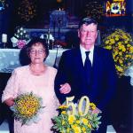 Amélia Teló e Antonio Dametto. 50 anos de casamento – Bodas de Ouro, no dia 09/02/1997.
