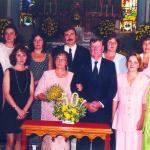 Família Antonio Dametto.  50 anos de casamento – Bodas de Ouro, no dia 09/02/1997.