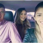 Agostinho Dametto e filhas Carina e Camila.