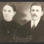 Cecília Dametto e Ricardo Baseggio. Casamento no dia 11/03/1916.