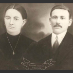 Cecília Dametto e Ricardo Baseggio. Casaram-se no dia 11/03/1916.