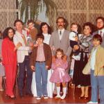 Casamento de Ione Maria Dametto com Gilberto Brunello no dia 28/07/1984 - entre os casais Marlene do Amarante e Claudio Dametto, Juriana da Silveira e Ivan José Dametto.