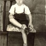 Claudio Luiz Dametto (*15/09/1946), aos sete anos.