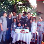 Corona Canalli e Danilo Dametto com netas e netos, 50 anos de casamento.