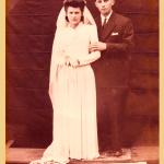Corona Canalli e Danilo Dametto, casamento em 1944.
