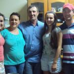 Família Dirceu Mariano Dametto: Milena, Marivone Conte, Dirceu, Luana e Ismael Dametto.