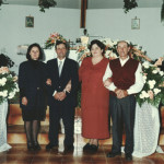 Domingos Steffani e Lourdes Chies Steffani  entre o casal Ilone Ongaratto e Getúlio Steffani.