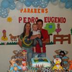 Joara Aparecida De Oliveira e Edson Dametto com o filho Pedro Eugenio - primeiro aniversário em 05/12/2015.