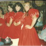 Eliane Dametto e companheiras de dança.