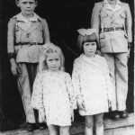 Filhos e filhas de Angelo Eugenio Dametto e Maria Julia Canal Dametto: Elzirio, Rynaldo Valentim (Campo), Ilse Maria e Ignes.