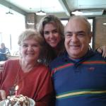 Enriete Dametto, filha Aline Dametto Silva e Jeremias Renato Silveira.