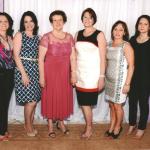 80.o Aniversário de Maria Fontana Dametto. Noras: Miria Savaris, Taciana Fontana, Gélides Panisson, Lucia Anita e Luzia Cerezolli.