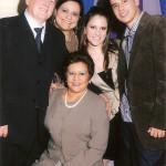 Maria Aquino e Francisco Olívio Dametto com filhas e filho: Kelly, Karen e William Aquino Dametto.