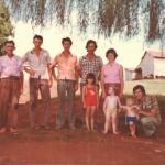 Josefina Gastaldo e Gentil Armando Dametto com filhas e filhos.