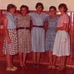 Filhas de Gentil Armando e Josefina Gastaldo Dametto, da esquerda para a direita: Nilce, Fiorentina, Vilma, Nair e Nelci.