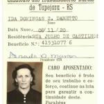 Ida Domingas Zanatta Dametto - cartão de aposentada.