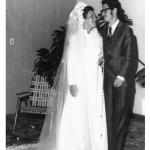 Juriana da Silveira e Ivan José Dametto, casamento no dia 24/06/1972.