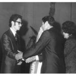 Ivan José Dametto (e Juriana), com seus pais Danilo e Corona, no dia do casamento.