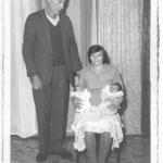 João Dametto e Maria Teló Dametto com os gêmeos Celso Primo e César Segundo, nascidos no dia 06/06/1970.