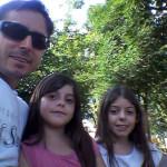 Joel Dametto e filhas Eduarda e Melina Dametto.