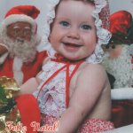 Karen Dametto, nascida no dia 20/02/2009. Natal de 2009.
