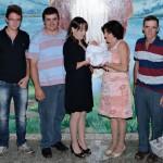 Família Dorval Dametto: filho Leonardo, genro Jean Negri e Lidia Mara Dametto Negri, neta Nicoli Negri (*19/03/2015), Nelci Langaro e Dorval Dametto.