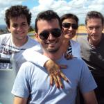 Luciano Dametto, Marcos Dametto,  Clemar da Silva e Clovis Dametto em Nova Petrópolis – RS.