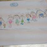 Desenho da família de Sadi Divino Dametto, feito pela pequena Karen Dametto.