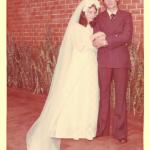 Maria Terezinha Dametto e Pedro Roling. Casamento no dia 02/02/1974, em Medianeira - Pr.