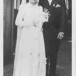Maria Emília Teló e João Dametto. Casamento no dia 17/05/1952.