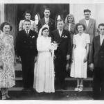 Maria Emília Teló e João Dametto. Madrinhas e padrinos de casamento no dia 17/05/1952.