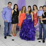 Marlene Amarante Dametto e família: Lucas e Lauren Daré Dametto, Marlene Aleti Amarante, Marluza Gasperin e Tiago Valentim Dametto.