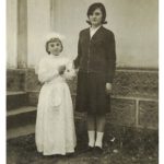 Clara Inês Dametto e madrinha Mercedes Joana Dametto.